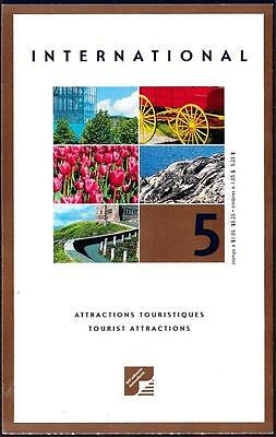 Canada 2001 Booklet #244b $1.05 Tourist Attractions, open cover