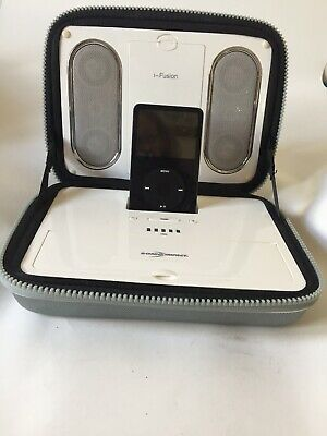 RARE COLLECTIBLE iPOD PORTABLE SPEAKER - SONIC IMPACT I-FUSION  With IPOd 30GB
