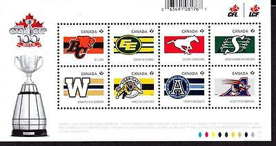 Canada MNH 2012 souvenir sheet sc# 2558 CFL Teams