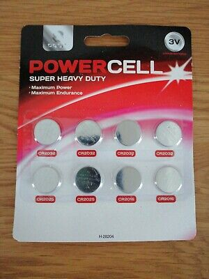 Panasonic CR2032 +CR2025Lithium Power Coin Cell Battery - Pack of 8