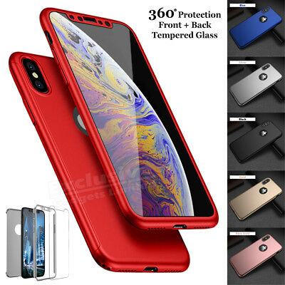 Case for iPhone 6 7 8 5S Plus XR XS Max Cover 360 Luxury Thin Shockproof Hybrid