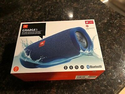 NEW JBL Charge 3 Portable Bluetooth Stereo Speaker - Blue /Authentic  Free Ship