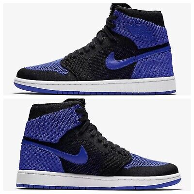00c568ccf3ed 2017 Air Jordan 1 Retro Hi Flyknit Black Royal Blue White I Size 11.5 919704  006