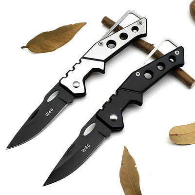 2019 Tactical Survival Folding Portable Knife Fold Camping  Pocket Ring Outdoor