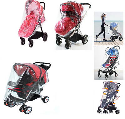 Pushchair Rain Cover Universal Buggy Raincover For Baby Stroller Pram Waterproof
