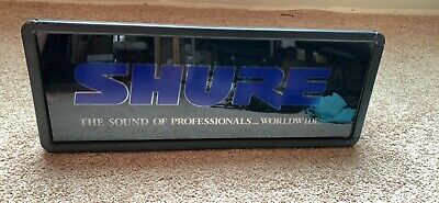 Shure Dealer Sign! Wireless Wired Rare!!