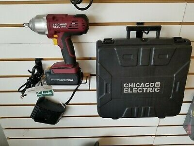 Chicago Electric 1 2 Cordless Impact Wrench 18v Nicd 60380 No Reserve