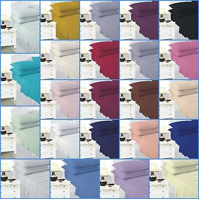 Easy Care Plain Dyed Percale Flat Sheets or Pillow Cases Single Double King