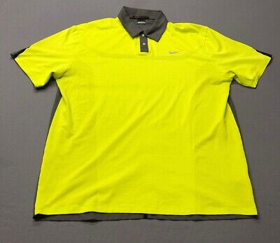 c986d633 NIKE TIGER WOODS Collection Dri-Fit Golf Shirt Polo (XL, Neon Yellow ...