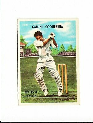 Cricket : Gamini Goonesena : A + B C Cricketers gum card 1959