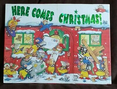 Ted Smart Here Comes Christmas Mouse 24 Day Advent Calender With Mini Books