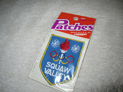 Vintage Squaw Valley Ski Patch TAHOE Skiing CALIFORNIA