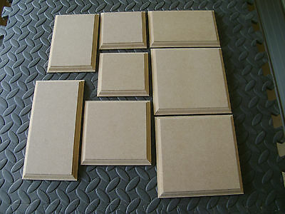 MDF Wooden Shapes Blanks Plaques  Plinth Circles /Squares/ Rectangle Ogee edge