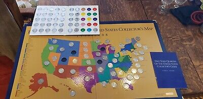 Lot 2: 1999-2008 First State Quarters of the US Collector's Map - incomplete