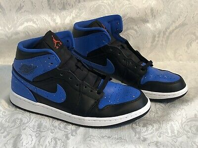6660e0ef4e3402 Men s Size 10.5 Air Jordan 1 Retro MID Royal Paint Splatter OG 554724-048