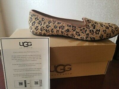 17997d84224 UGG AUSTRALIA ALLOWAY Stud-Bow Blue Suede Women's Flats Size 7 ...
