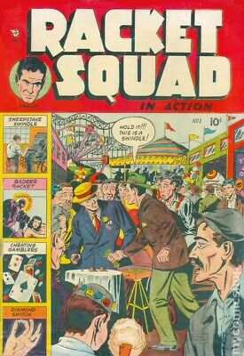 Racket Squad in Action vintage (1952-58) comic collection on DVD Rom