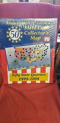 Us State Series Quarters Coin Collectors Display Wall Map New - Us-map-for-quarters