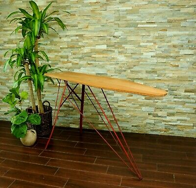 Vintage Wood & Metal Ironing Board-Antique Farmhouse Iron Board Console Table