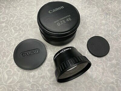 CANON Wide Converter 0.7x 46 with Caps & Case