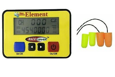 RACEceiver Element Rechargeable with Semi Pro Ear Piece Radio Kit Racing