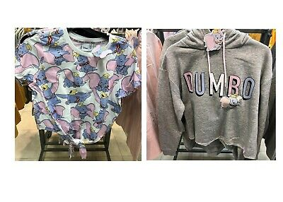 Bnwt Primark Women's Dumbo Knotted Cropped T-Shirt & Grey Hoody Various Sizes