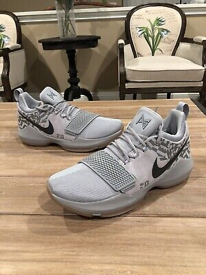 c2c903b0027e Nike PG 1 Baseline Wolf Grey Gray OKC Thunder Paul George 2 3 Size 12 New