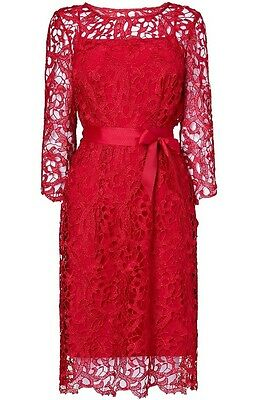 BRAND NEW PHASE Eight   8 Callula Tapework dress in red and black ... 8658907f9