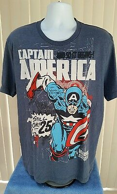 Blue Captain America Marvel Old Navy Collectabilitees T Shirt Mens