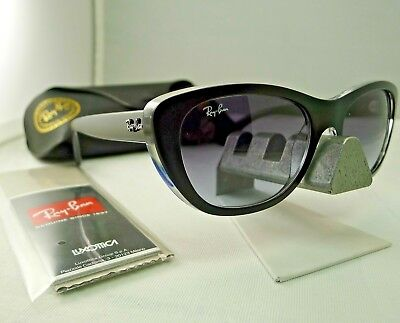 2214714004 Ray-Ban Rb4227 6052 8G Matte Black Clear With Grey Gradient Sunglasses 55Mm  9.5