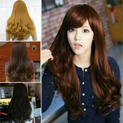 60cm Sexy Lady Women's Fashion Wavy Curly Long Hair Full Wigs Cosplay Party Wig
