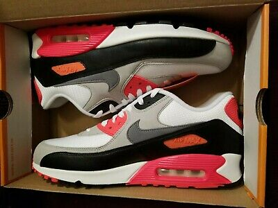 Nike Air Max 90 Premium Tape QS *Infrared* in White Cool