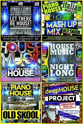 House Deep Italian Euro Piano Music CDs x 6 DJ mixed CD PACK COLLECTION 2019 NEW