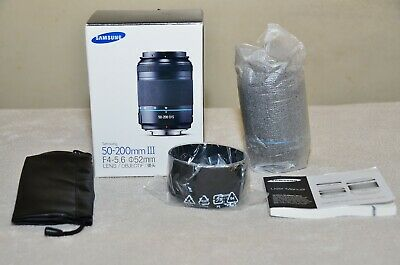 Samsung NX 50-200mm f4-5.6 ED OIS III i-Function Zoom Lens (Black) w/ Box (NEW)
