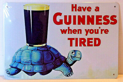 Guinness Beer Retro Metal Tin Wall Sign