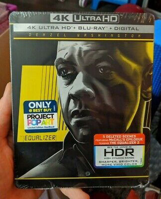 The Equalizer - Best Buy Exclusive Steelbook (Blu-ray + 4K UHD) BRAND NEW!!