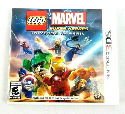 Nintendo 3DS Lego Marvel Super Heroes Universe in Peril Game Complete