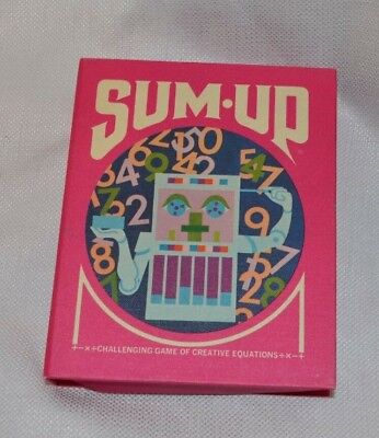 Vintage  3M Sum Up Card Game 1970 Equation Groovy Design Math Complete Rummy