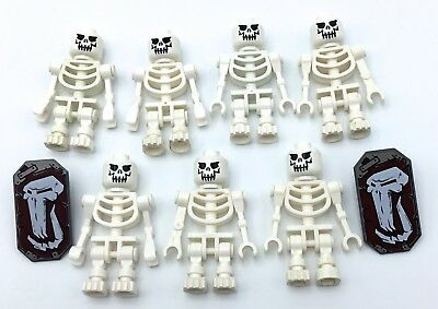 Lego Lot Of 7 Skeleton Minifigures Evil Skull Castle Dead Bones Figures