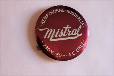 Kempthorne Australia- Mistral Fan front Metal Badge off a Vintage 1950's Fan