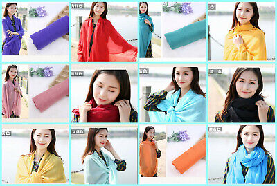 US Seller-50 Stole Scarf plain fashion casual light weight shawls wrap wholesale