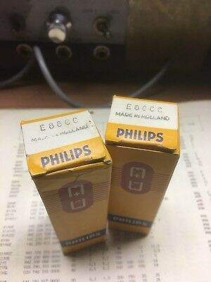 NOS MATCHED PAIR Philips (Heerlen Holland) E88CC *SQ* Special Quality 1960's