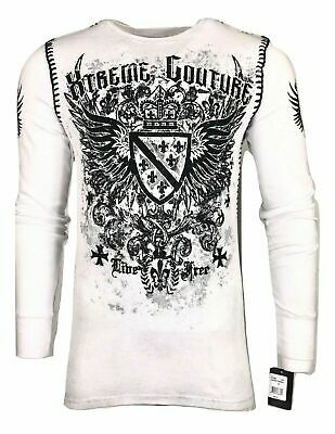 Xtreme Couture by AFFLICTION Men THERMAL T-Shirt LEGION Wings Biker MMA UFC $58