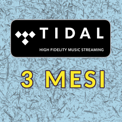 TIDAL HiFi 3 MESI - ACCOUNT PRIVATO - Cambio PASSWORD - con GARANZIA