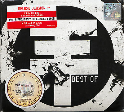TOKIO HOTEL The Best Of MALAYSIA DELUXE EDITION DIGIPAK 2 CD +DVD SET NEW SEALED