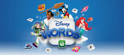 Woolworths Disney Words Tiles All Characters - Family Collectable Gift Toy