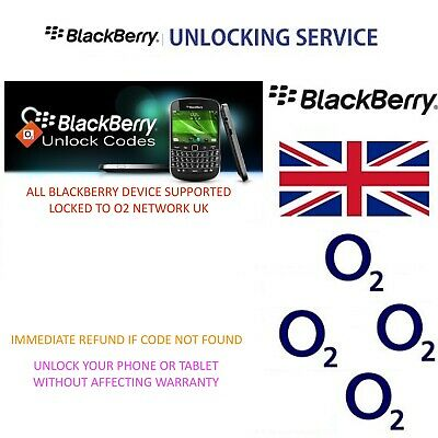 Unlock Code O2 Uk For Blackberry Q5 Q10 Q20 Q30 Z3 Z30 All Models by IMEI Only