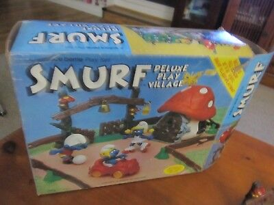 Smurfs Deluxe Playset vintage Rare (e)