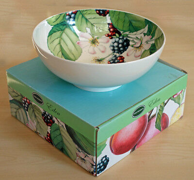 Portmeirion footed salad bowl in original box - 24cm - 9½""