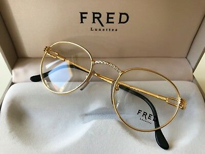 2bf4e9ecf1 vintage FRED OURAGAN eyeglasses unisex France rare gold plated Cup Force  Ocean